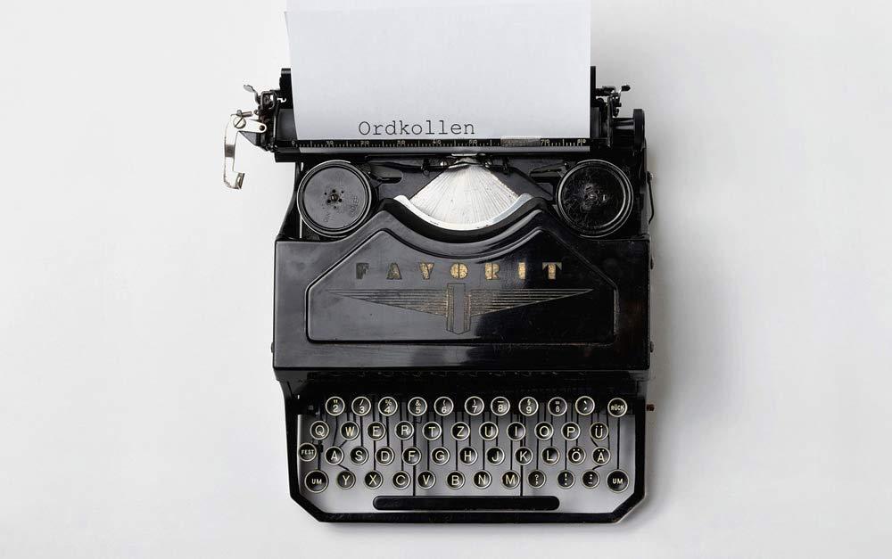 Skrivmaskin - Rättstavning på svenska hos Ordkollen